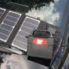 Kraftig batteribank med solcellepanel