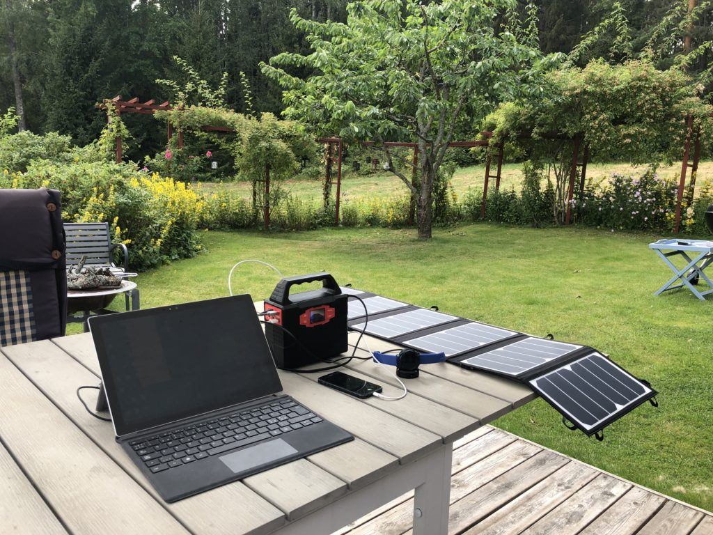 Bærbar solcellegenerator #BSK150
